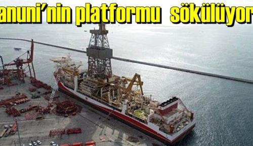 Kanuni'nin platformu sökülüyor!