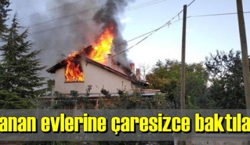 Konya'da yangın, suryeli ailenin yaşadığı iki katlı ev Kullanılmaz hale geldi.