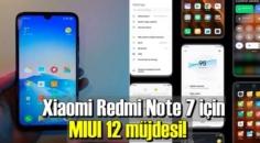 Xiaomi Redmi Note 7 MIUI 12 güncellemesi ile tazelendi!