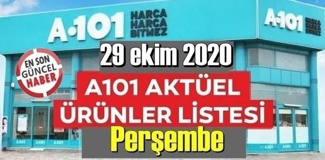 29 ekim 2020 Perşembe A101 Aktüel Ürünler Kataloğu paylaşıldı!