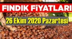 26 Ekim Pazartesi Türkiye günlük Fındık piyasası, Fındık bugüne nasıl başladı.
