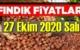 27 Ekim Salı Türkiye günlük Fındık piyasası, Fındık bugüne nasıl başladı.