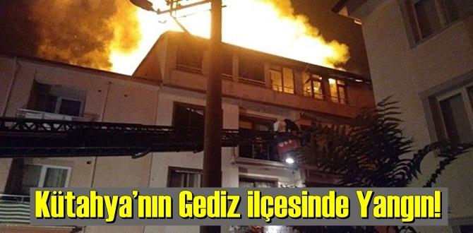 Kütahya'nın Gediz ilçesinin Uluoymak Mahallesi Yangın!
