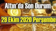 29 Ekim 2020 Perşembe Ekonomi'de Altın piyasası, Altın güne nasıl başlıyor!