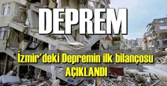 İzmir'deki Depremin ilk bilançosu, 4 kişi hayatını kaybetti 120 yaralı..