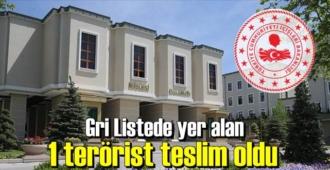 Bakanlık duyurdu,Gri Listede yer alan 1 terörist teslim oldu!