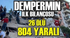İzmir'de Yaklaşık 15 saniye süren şiddetli Depremin sonuçları..