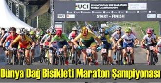 Dünya Dağ Bisikleti Maraton Şampiyonası 'Elite Kadınlar' kategorisi'nde start verildi.