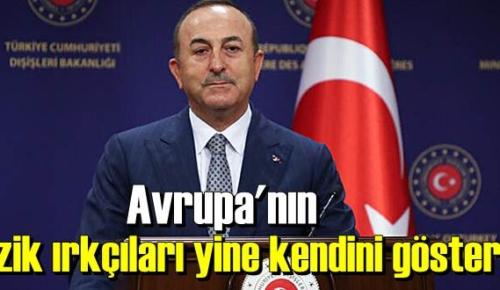 Çavuşoğlu: Ezik ırkçılar yine kendini gösterdi!