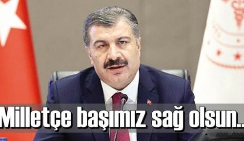 Sağlık Bakanı Koca:Kıymetli meslektaşım Dr. Osman Durmuş Bey maalesef aramızdan ayrıldı. Milletçe başımız sağ olsun.