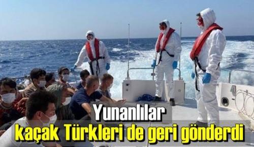 Yunan Sahil Güvenliği ,kaçakları geri iterek kaderlerine terk ediyorlar