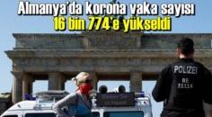 Almanya'da son 24 saatte 16 bin 774 yeni tip Covid-19 vakası tespit edildi.
