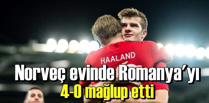 Norveç ile Romanya, Ulleval Stadion'da karşı karşıya geldi, maçtan Romanya 4-0 mağlup ayrıldı.