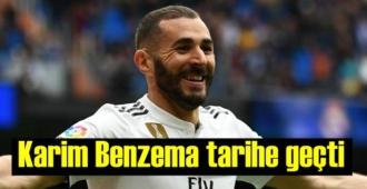 Real Madrid'in Fransız yıldızı Karim Benzema tarihe geçti!