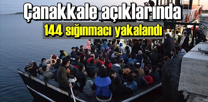 Yunan adalarına Kaçmak isterken 144 sığınmacı yakalandı!
