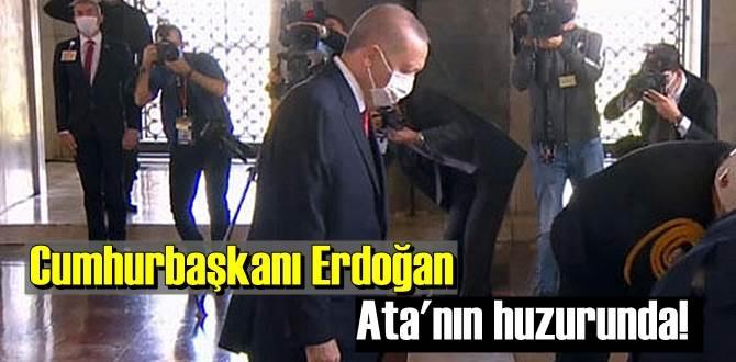 Cumhurbaşkanı Erdoğan ve devlet erkanı Ata'nın huzurunda!
