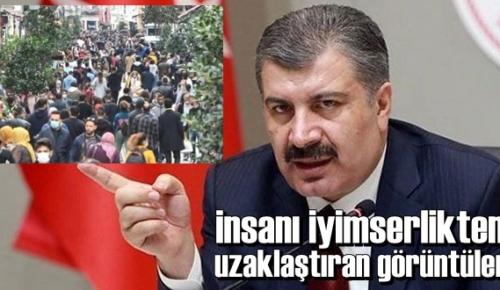 Bakan Koca İstanbul'da bir Semtin Kalabalık görüntüsünü paylaştı!
