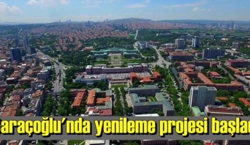 Ankara'nın Saraçoğlu Mahallesi'nde Bakanlık tarafından çalışmalar yürütülüyor.