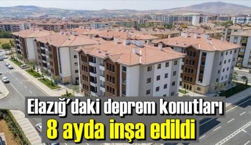 Ocak ayında meydana gelen depremden sonra inşasına başlanan konutlarda ilk teslimler yapıldı.