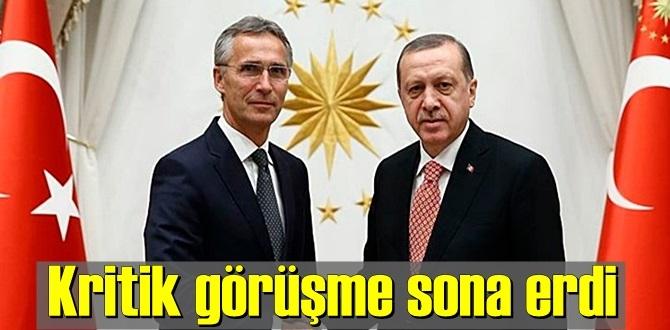 Başkan Erdoğan'ın NATO Genel Sekreteri Jens Stoltenberg'i kabulü sona erdi.