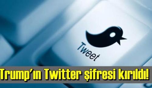 Trump'ın Twitter şifresi kırıldı!