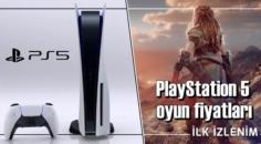 PlayStation 5 oyun ve fiyatları belli oldu.