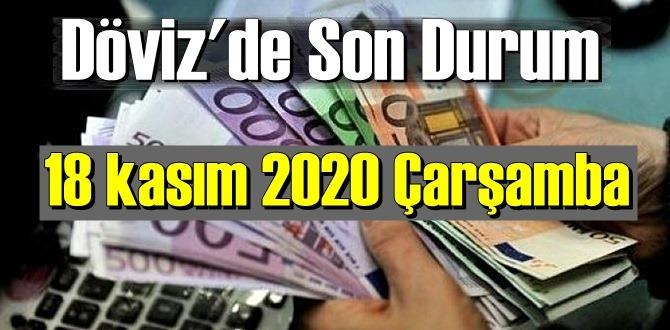 18 kasım 2020 Çarşamba Ekonomi'de Döviz piyasası, Döviz güne nasıl başladı
