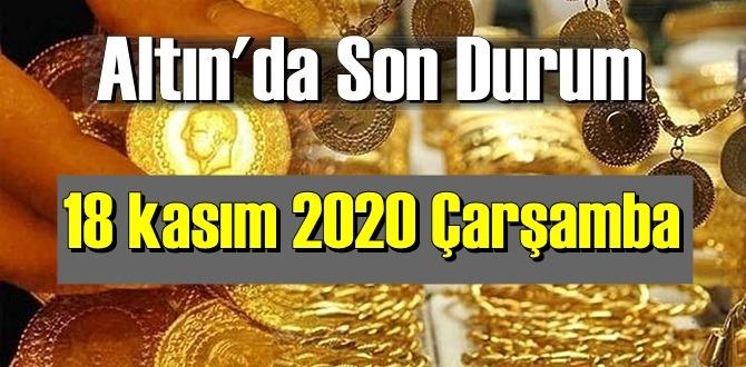 18 kasım 2020 Çarşamba Ekonomi'de Altın piyasası, Altın güne nasıl başlıyor!