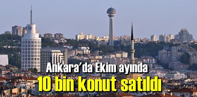 Ekim 2020 döneminde Ankara'da konut satışları geriledi.
