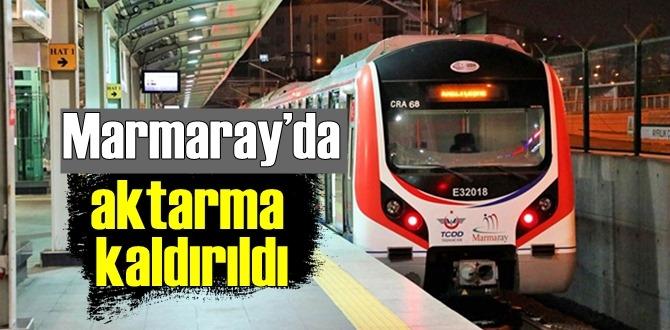 Marmaray aktarma indirimini Kaldırıldı!