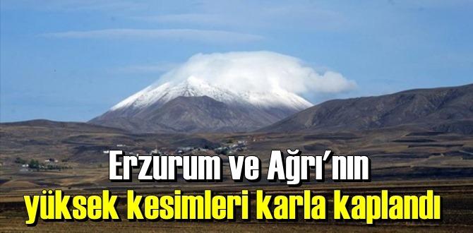2020'nin ilk Kar'ı dağlara düştü Erzurum ve Ağrı'nın yüksek kesimleri beyaza büründü.