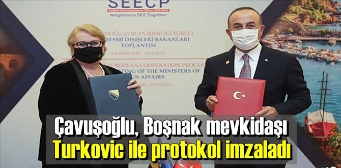 Mevlüt Çavuşoğlu ile Bosna Hersek Dışişleri Bakanı Bisera Turkovic bir araya geldi