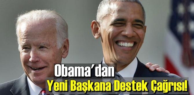ABD eski Başkanı Obama'dan Yeni Başkana Destek Çağrısı!