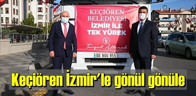 Keçiören Belediyesi'nden İzmir'e gıda kolisi, ısıtıcı, battaniye gibi malzme Desteği!