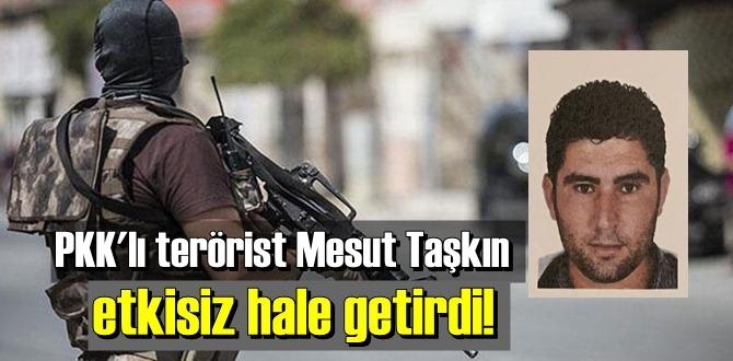 Şehitlerin kanı yerde kalmadı, PKK'lı terörist Mesut Taşkın Öldürüldü.