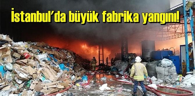 İstanbul'da kağıt fabrikası'nda Yangın! Yangın kontrol altına alındı!