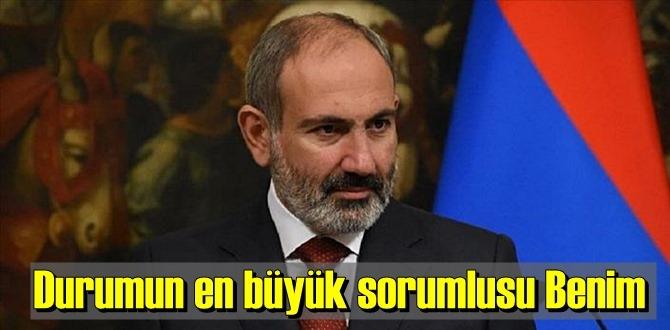 Ermenistan Başbakanı Paşinyan Sorumluluğu kabul etti!