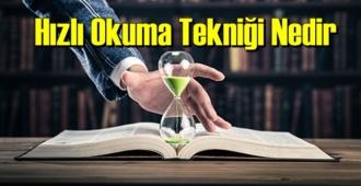 İlginç ama gerçek: Hızlı Okuma Tekniği Nedir biliyor musunuz!