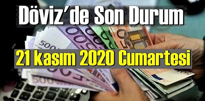 21 kasım 2020 Cumartesi Ekonomi'de Döviz piyasası, Döviz güne nasıl başladı