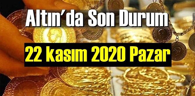 22 kasım 2020 Pazar Ekonomi'de Altın piyasası, Altın güne nasıl başlıyor