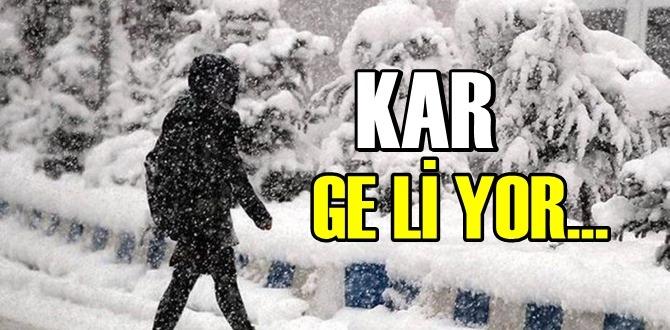 Bugün 22 kasım 2020, Kar geliyor, Kar kapıda hazırlıklı olun!