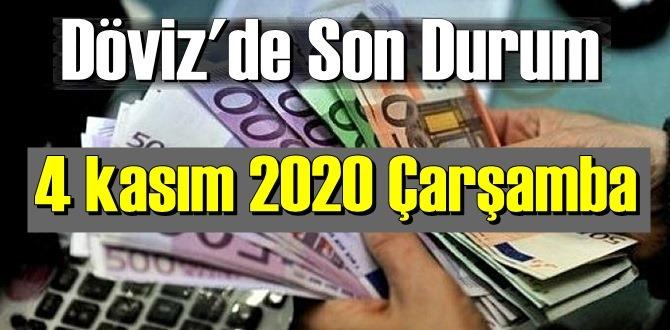 4 kasım 2020 Çarşamba Ekonomi'de Döviz piyasası, Döviz güne nasıl başladı