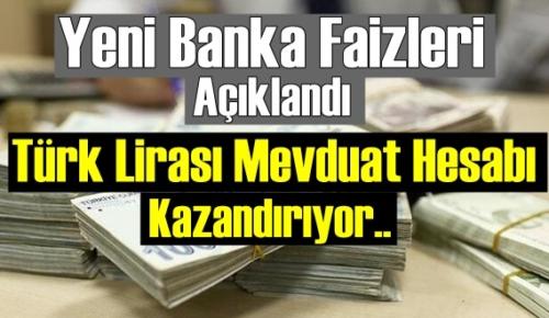 Yeni Faiz Oranıyla 100 bin lira aylık 1299 lira faiz geliri sağlıyor!