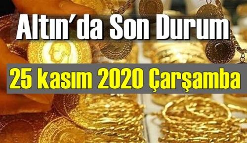 25 kasım 2020 Çarşamba Ekonomi'de Altın piyasası, Altın güne nasıl başlıyor