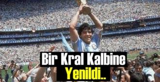 Rakiplerini hep yendi, Efsane Maradona Kalbine yenildi!