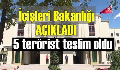 ikna çalışmaları neticesinde 5 terörist teslim oldu!