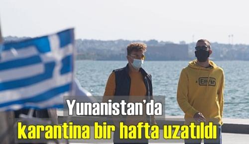 Komşumuz Yunanistan'da Karantina süresi uzatıldı!