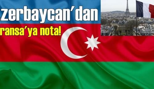 Azerbaycan'dan Paris'e protesto notası !