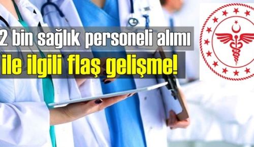 12 bin sağlık personeli alımı için tercihler 1-7 Aralık tarihleri arasında yapılacak!