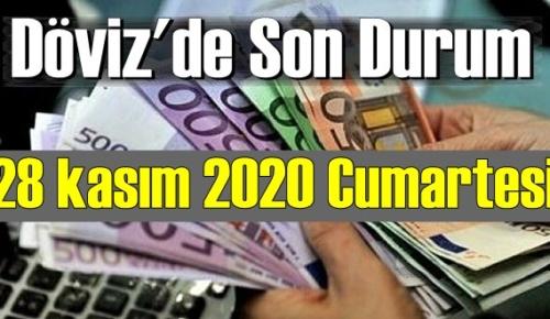 28 kasım 2020 Cumartesi Ekonomi'de Döviz piyasası, Döviz güne nasıl başladı